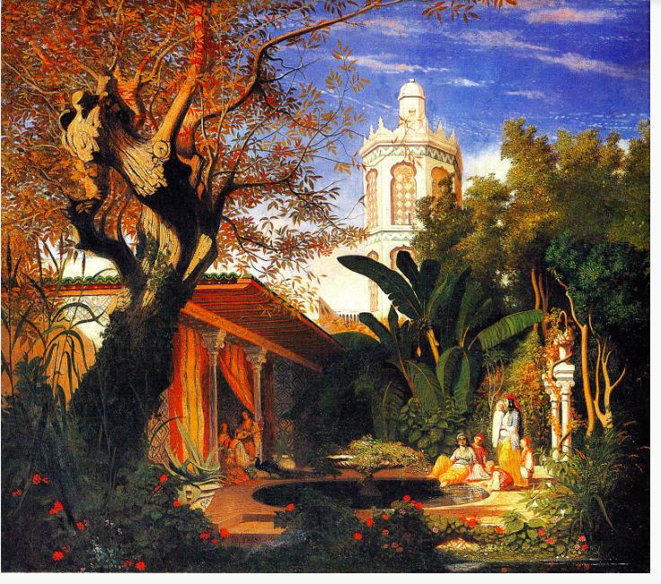 jardins-du-palais-du-dey-a-alger-par-theodore-frere
