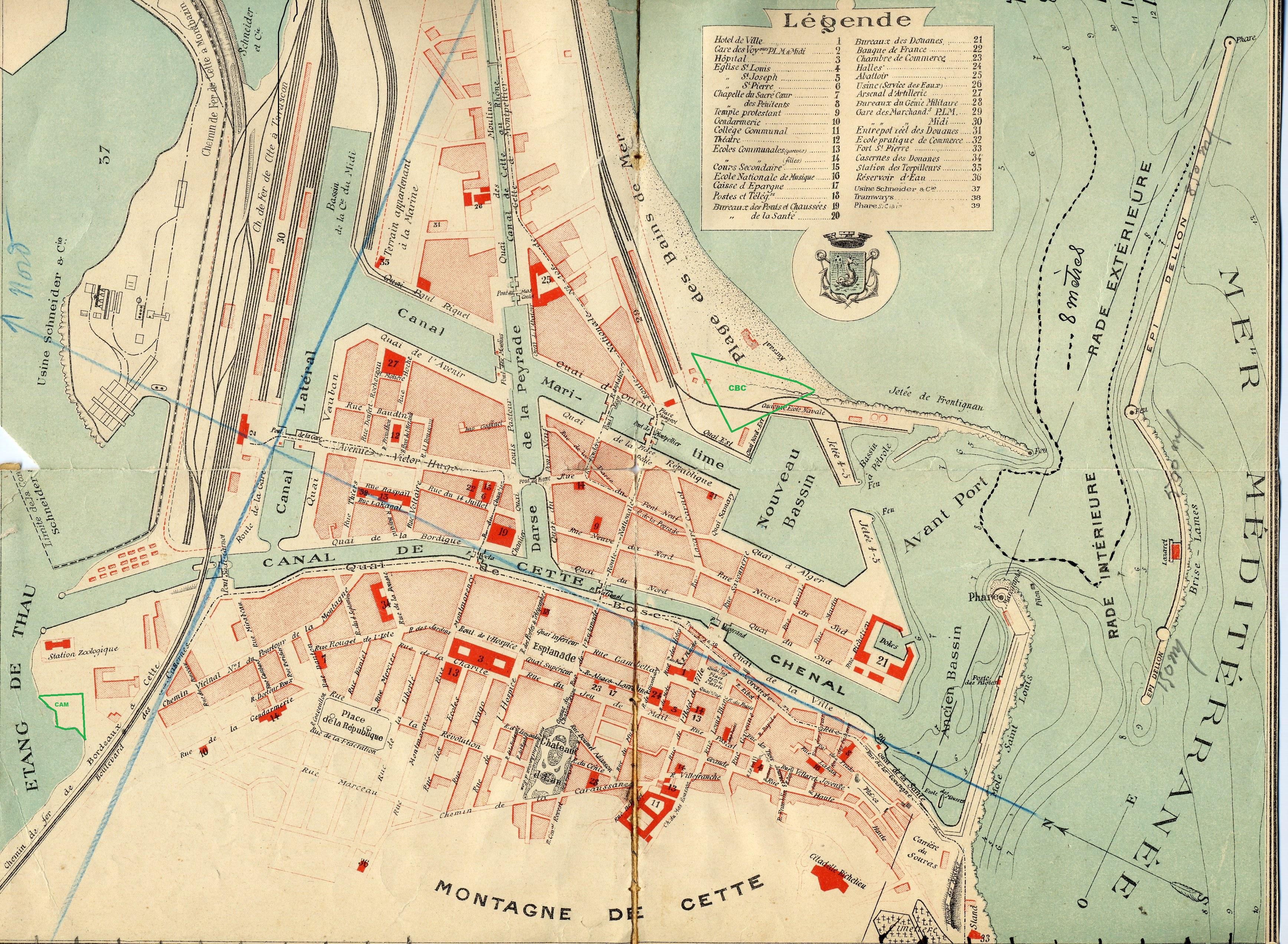 Plan ville de Sète